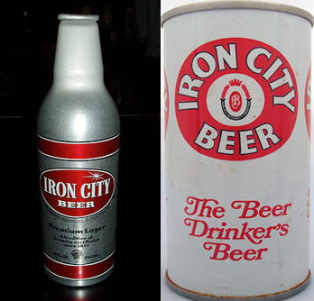 Iron City Bottle and Can