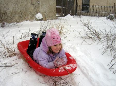 sledding in thehood
