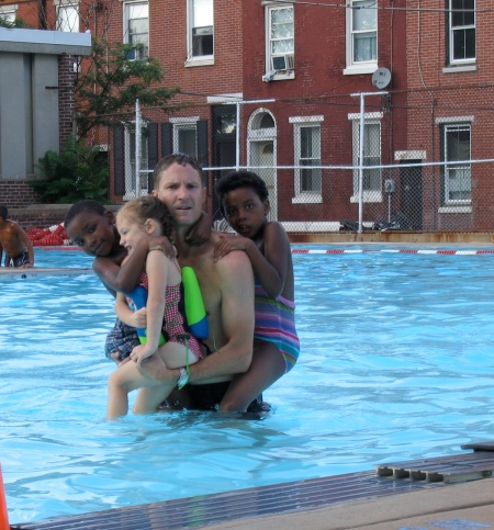 met at the Francisville swimming pool.