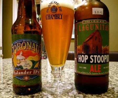 Coronado Islander & Lagunitas Hop Stoopid IPAs