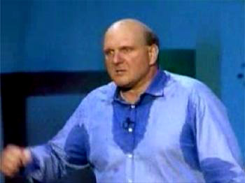 Mr. Ballmer and his legendary perspiration