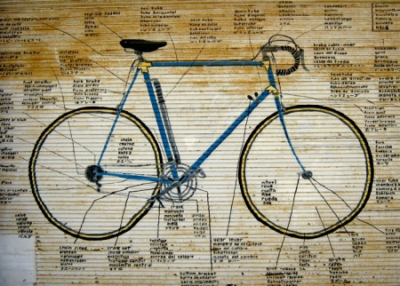 bicycle painting