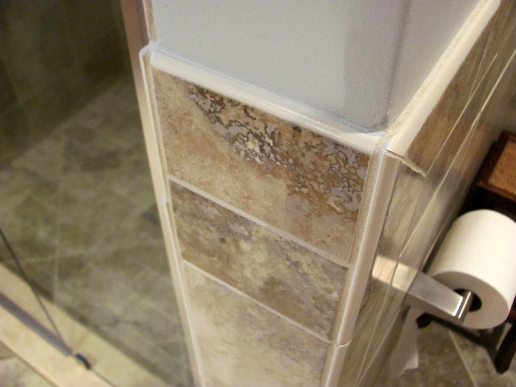 Tiling Inside Corners outside corner tile shower Quotes