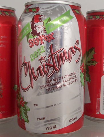sly fox christmas ale can