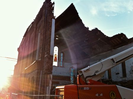 19th Street M.E. Church during demolition