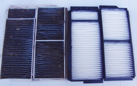 Mazda cabin filter before and after copy