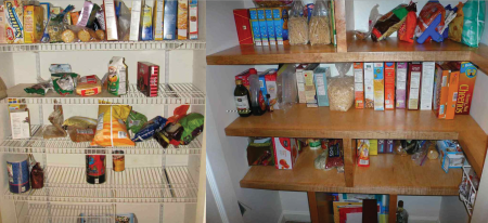 pantry shelves befodre and after 2