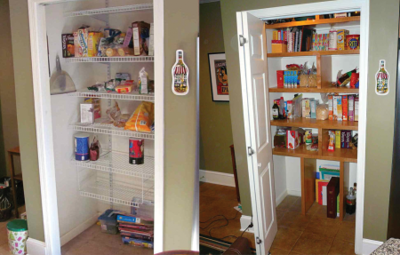 pantry shelves before and after