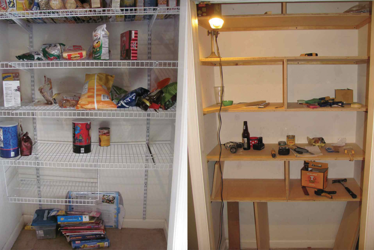Marvelous photograph of pantry shelves before and after3 with #996832 color and 1288x861 pixels
