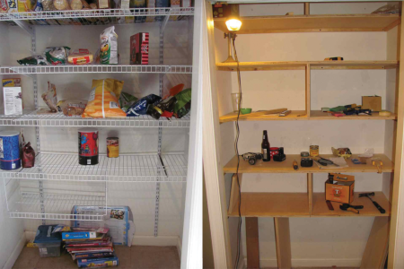 pantry shelves before and after3